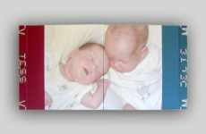 Fotoboek voor een tweeling